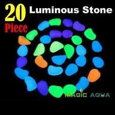 Beautiful Glow Stone Aquarium Reptile Tank Night Light Home Decoration Luminous