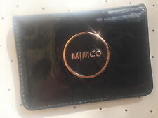 Mimco Mim black card pouch wallet purse patent leather Authentic new