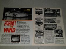 1988 PONTIAC TRANS AM 230 MPH ARTICLE / AD