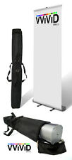 "Retractable Roll Up Banner Stand 32"" wide 79"" tall Display"