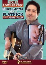Adam Traum Learn To Play Blues Guitar With A Flatpick Pick Style Music DVD