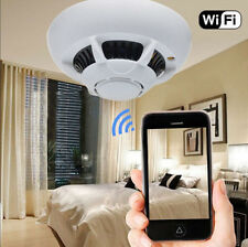 1080p HD Spy IP Camera DVR Cam WiFi Hidden Nanny Smoke Detector Motion Detection