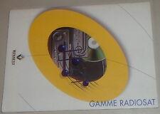 Betriebsanleitung Renault Autoradio Gamme Radiosat Stand 07/2001