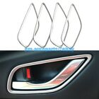 PM Pearl Chrome Interior Door Handle Cover Trim 4PCS Kit for Mazda 6 Atenza 2015