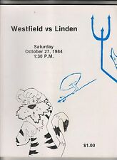 1984 WESTFIELD HIGH SCHOOL BLUE DEVILS FOOTBALL PROGRAM - NEW JERSEY