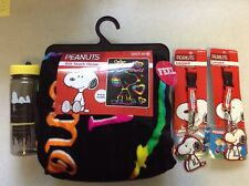 New Lot Peanuts Snoopy Color Your World Silk Touch Throw Lanyards Water Bottle