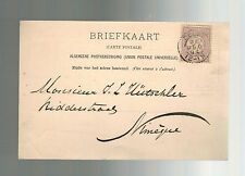 1894 Netherlands Holland Postcard Cover