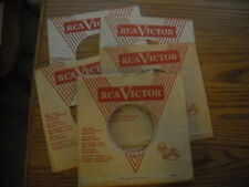 45RPM COMPANY SLEEVE.  LOT OF FIVE  RCA, ELVIS ETC.