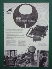 6/1987 PUB MBLE PHILIPS RADIO MILITAIRE PRC/VRC-600 ARMEE BELGE ARMY FRENCH AD