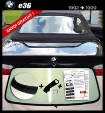 Lunette arrière BMW E36 Cab teinte VERT ORIGINE fermeture éclair envoi gratuit