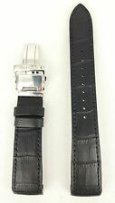 Seiko Premier Kinetic Black Strap 5M54 0AA0 SRN005P1 Watchband 4A072 21mm 5D88
