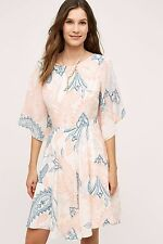 NWT SZ 10 $395 ANTHROPOLOGIE APRICO SILK DRESS BY SHOSHANNA