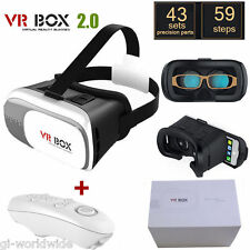 Universal 3D Virtual Reality VR BOX V2.0 OCCHIALI CUFFIE + Bluetooth Remote