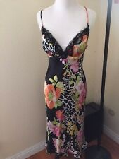 NWT$198 Nordstrom MARY L. COUTURE Maxi floral dress, silk, lace size 8, M