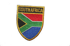 SOUTH AFRICA COUNTRY FLAG OVAL SHIELD FLAG EMBROIDERED IRON-ON PATCH CREST BADGE
