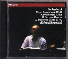 ALFRED BRENDEL Schubert Piano Sonata in A, D. 959; 12 German Dances (CD Philips)