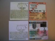 1983 F.A. Cup Final & ReplayTicket Brighton v Manchester United mint condition.