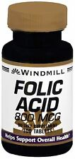Windmill Folic Acid 800 mcg Tablets 100 Tablets