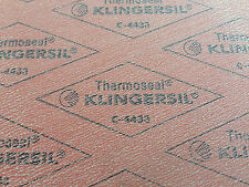 "New Thermoseal Klingersil C-4433 Synthetic Sheet Gasket 1/16"" x 6"" x 6"""