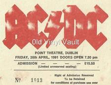 AC/DC-Point Theatre,Dublin,26th April 1991-Laminated Repro Concert Ticket