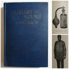 Antique 1924 SANITARY SCIENCE FOR THE UNDERTAKER Embalming Funeral Book ECKELS