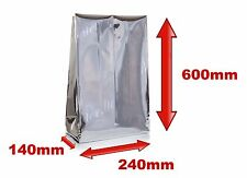 1 x Mylar pouch,heat seal/240 x 140 x 600mm/aluminium effect/food grade!