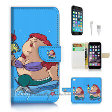 iPhone 7 (4.7') Flip Wallet Case Cover P2104 Fat Little Mermaid