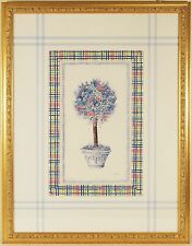 Floral Print By Chucha, Sky Blue & Pink, Beautifully Framed by John Richard