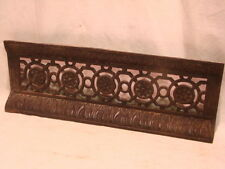 ANTIQUE LATE 1800'S CAST IRON FIREPLACE BUMPER FOR SURROUND INSERT ORNATE DESIGN