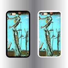 Apple iPhone 6 Case w/ Salvador Dali's BURNING GIRAFFE AQUA image