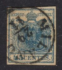 ITALY LOMBARDY AND VENETIA CV £550 SG 5C RARE RIBBED PAPER TYPE NO FAULTS