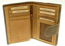 Brown Leather 'Cow hunter' Wallet Purse & Credit Card Holder With Coin Storage