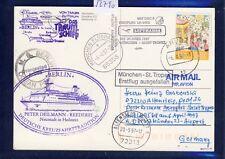 52790) LH FF München - St.Tropez France 6.4.97, card Karte SP ab Aruba