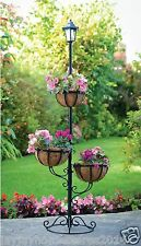 Automatic Dark Light 3 Tier Hanging Basket Solar LED Light