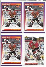 Lot (4) 91-92 Score American & Upper Deck Dominik Hasek Rookie Cards RC