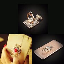 Handyhalter Ring Metall Kristall 360° Handyständer Fingerring Stand Halter Neu