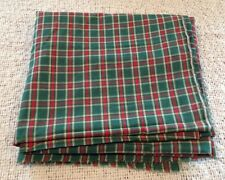 """Plaid Red and Green Pattern Cutter Fabric for Crafts 83"""" X 44"""""""