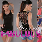 SEXY WOMENS TOP PARTY CASUAL FORMAL EVENING CLOTHES CLUBWEAR Size 4 6 8 10 S / M