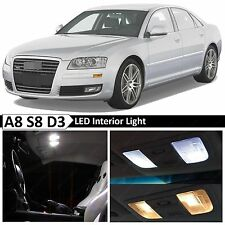 22x White Interior LED Lights Package Kit for 2003-2009 Audi A8 S8 D3 Error Free