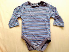 ♥ Baby CK Jeans Brown Stripes Onesies Long Sleeves Bodysuit (0-3 months) ♥