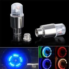 4*Motorcycle Bike Car Wheel Tire Tyre Valve Cap Spoke Neon LED Flash Lamp Light