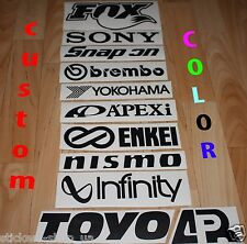 11 car sponsor sticker JDM Decal set/pack Fox Snapon Enkei Brembo Nismo Racing