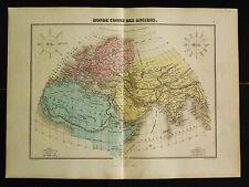 1882:DA ATLAS MIGEON.MONDO CONOSCIUTO DAGLI ANTICHI,Doppio Foglio Cm 46x35 .ETNA