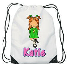 Irish Dancing Drawstring  PE Bag For Girls Personalised swimming shoes Gym