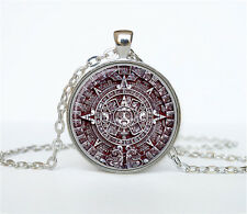 Aztec Calendar necklace Sun Stone pendant Aztec Calendar jewelry the necklace