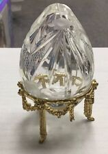Faberge Crystal St. Petersburg Petite Egg Collection Crystal Eggs With Tripod