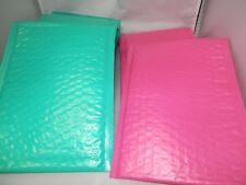 30 New Hot Pink & Teal Poly Bubble Mailers,6x9 Padded Mailing Shipping Envelopes