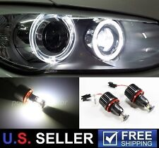 2x 40W CREE H8 LED Angel Eyes Halo Ring Marker Light Bulbs Xenon White 6000K BMW