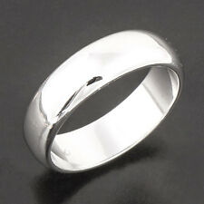 mens jewelry 18K White Gold Plated Smooth Band smooth Ring size 11