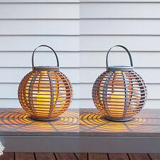 De 2 Set Solaire Lanterne Lampe LED Décoration Jardin Eclairage extérieur